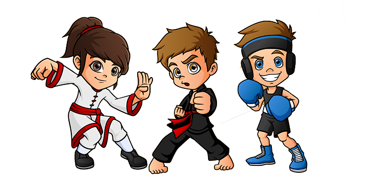 Kids in Martial Arts Uniforms